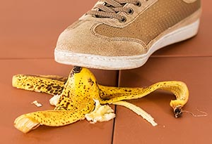 Foot on a banana peel | personal injury | Her Lawyer