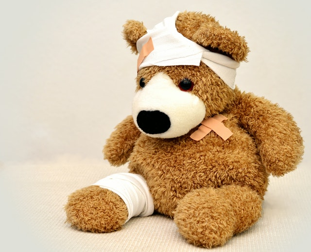 Injured teddy bear | Female Personal Injury Attorneys for Women in California | Her Lawyer