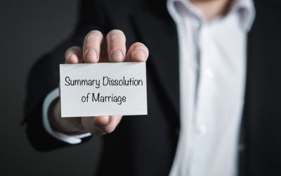 Summary Dissolution of Marriage in California